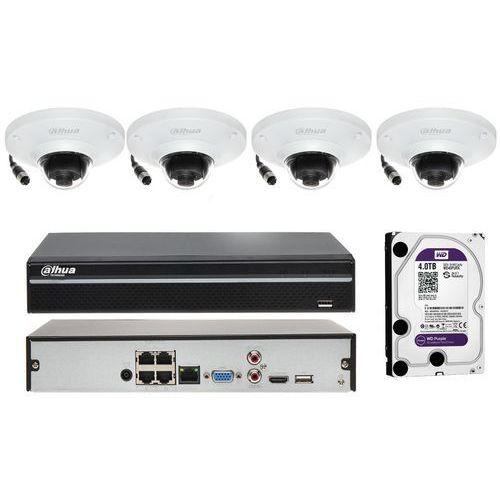 Zestaw do monitoringu na 4 kamery z funkcją mapy cieplnej marki Dahua