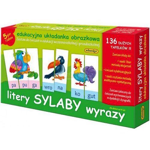 Litery sylaby wyrazy - edukacyjna układanka obrazkowa, ADA6076