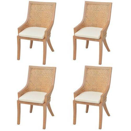 Krzesła do jadalni rattanowe 4 szt. marki Vidaxl