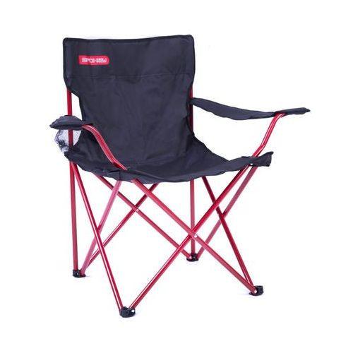 Krzesło rozkładane SPOKEY Angler Czarno-czerwony