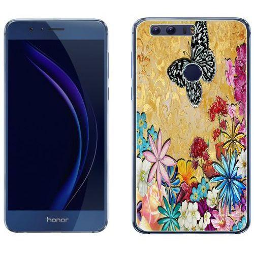 Huawei Honor 8 - etui na telefon - Kolekcja boho - czarny motyl - J106, kolor czarny