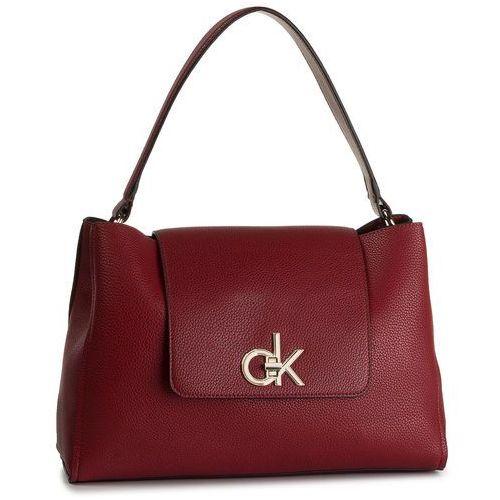 Torebka - re-lock top handle satchel k60k605607 xcl marki Calvin klein