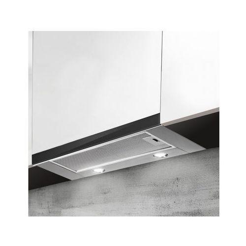 Afrelli Okap do zabudowy delicato glass czarny 50 cm, 428 m3/h