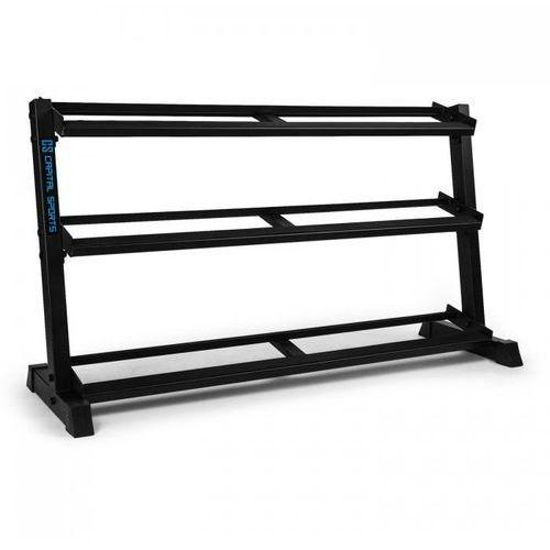 Traytor h stojak na obciążniki/hantle 3 poziomy z półkami stalowy czarny marki Capital sports
