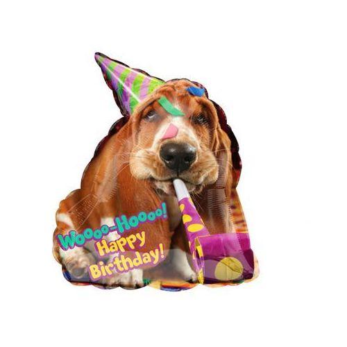 Amscan Balon foliowy happy birthday z pieskiem - 55 cm - 1 szt.