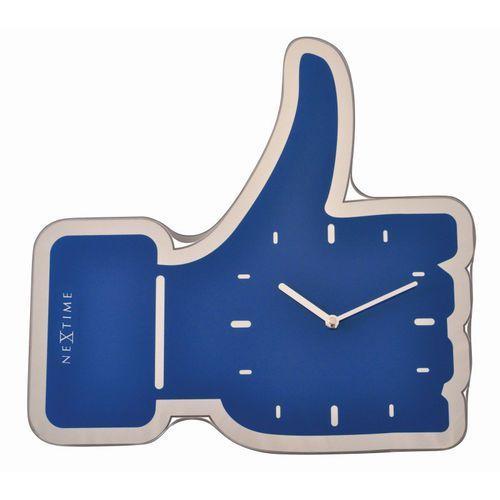 Nextime - zegar ścienny thumbs up 41 cm - niebieski