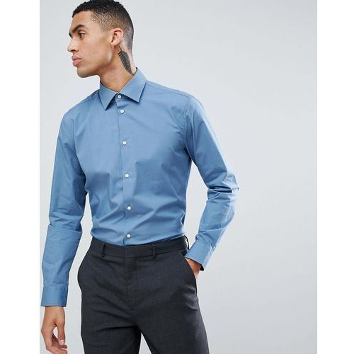 slim fit stretch smart shirt in powder blue - blue marki Esprit