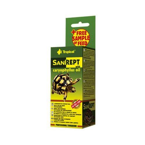 sanirept - preparat z olejkiem goździkowym do pielęgnacji skorupy żółwi lądowych 15ml marki Tropical