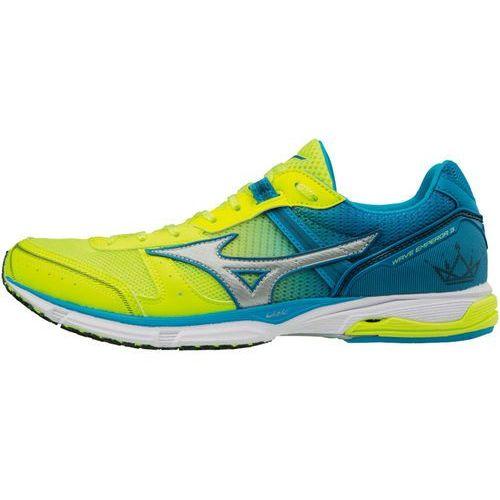 wave emperor 3 buty do biegania mężczyźni żółty/niebieski uk 9,5 | eu 44 2018 buty szosowe marki Mizuno