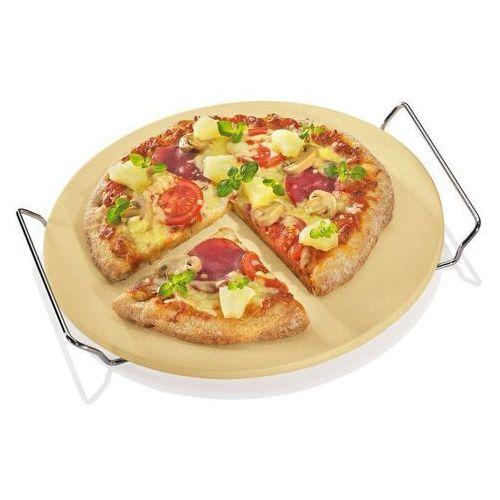 Kuchenprofi - okrągły kamień do pieczenia pizzy, na stelażu