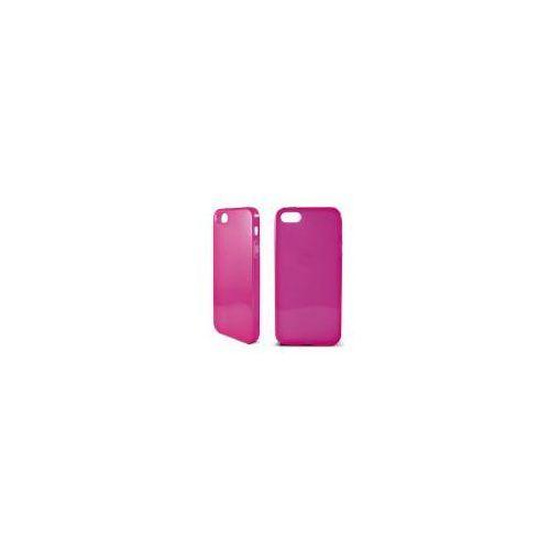 KSIX Etui FLEX TPU dedykowane do Apple iPhone SE/5S/5 przeźroczyste - różowe Odbiór osobisty w ponad 40 miastach lub kurier 24h z kategorii Futerały i pokrowce do telefonów