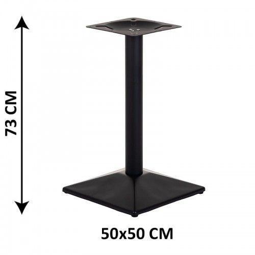 Podstawa stolika sh-4002-8/b, 50x50 cm (stelaż stolika), kolor czarny marki Stema - sh