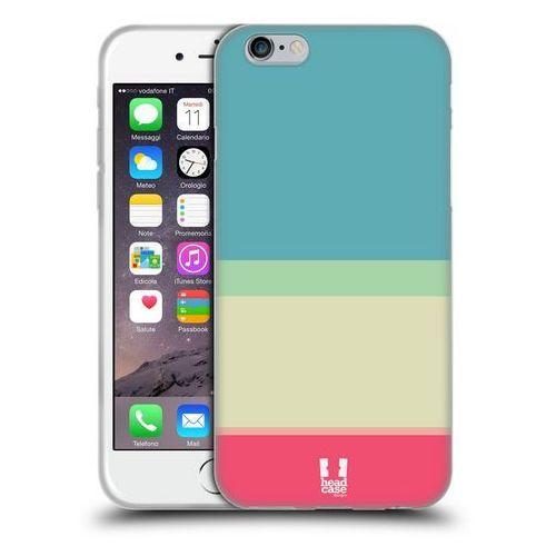 Etui silikonowe na telefon - Paski Niebieskie i Kremowe, kolor beżowy