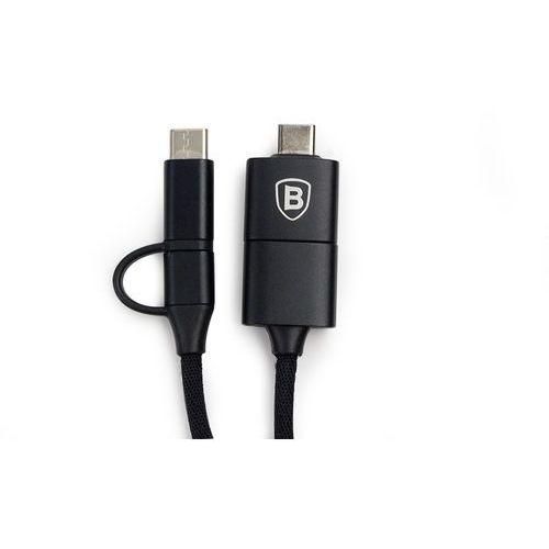 Kabel 2A Baseus 5w1 ze złączem USB, microUSB, USB-C, USB-OTG i Lightning - czarny