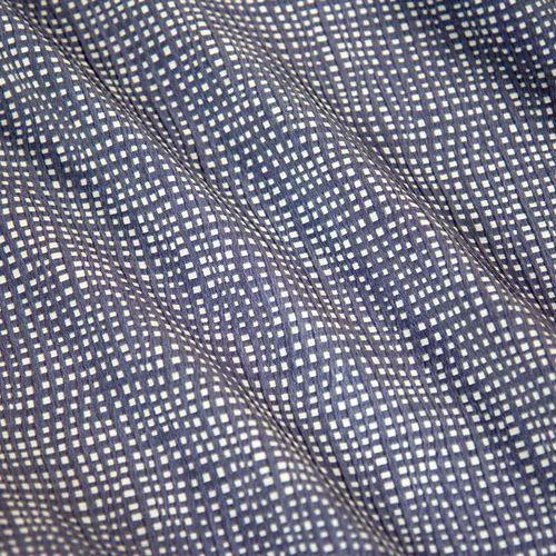 Ultramaszyna Tkanina żakardowa tłoczona - niebieska kratka na białym