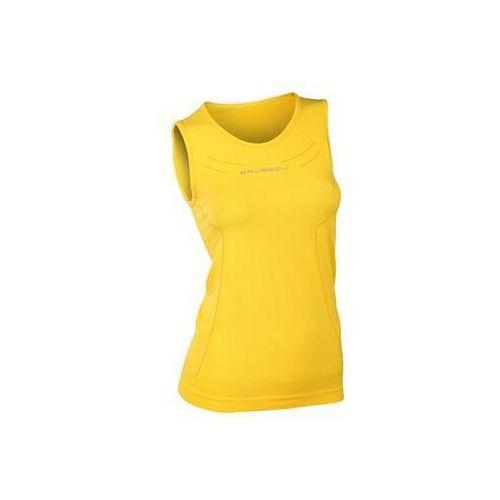 Brubeck Koszulka damska athletic bez rękawów ta10200  (kolor: żółty, rozmiar: s)