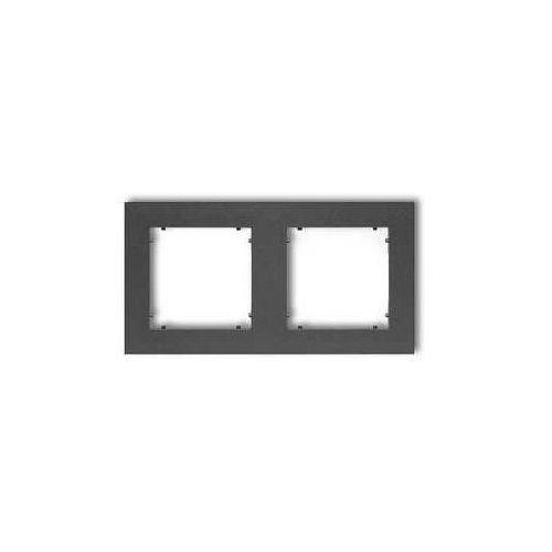 Ramka podwójna Karlik Mini 11MR-2 grafitowa, kolor grafitowy