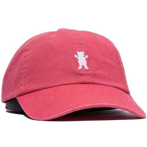 czapka z daszkiem GRIZZLY - Og Dad Bear Logo Hat Coral/White (CRWH)