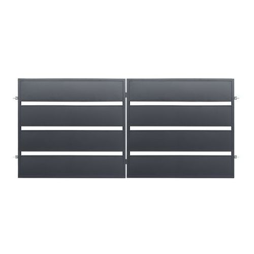 Polbram steel group Brama dwuskrzydłowa leda 3 5 x 1 58 m ocynk antracyt
