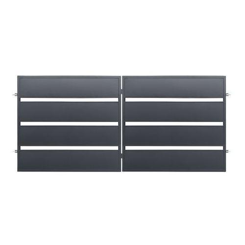 Polbram steel group Brama dwuskrzydłowa leda 3,5 x 1,58 m ocynk antracyt