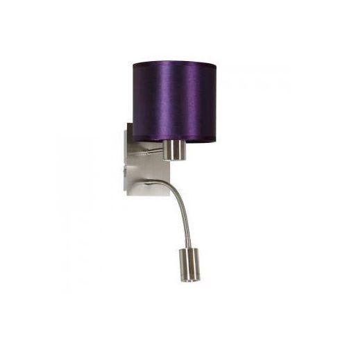 Candellux sylwana 21-29430 kinkiet 1x40w e14 + led z wyłącznikiem fioletowy / satyna nikiel (5906714829430)