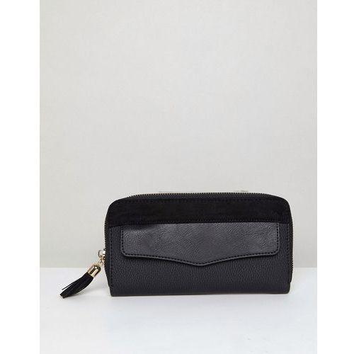 tassel zip around purse - black marki New look