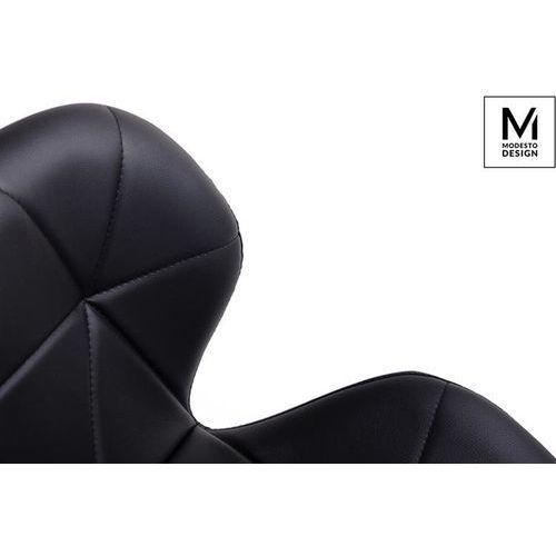 Modesto design Modesto krzesło klipp czarne - ekoskóra, podstawa bukowa (5900168801660)