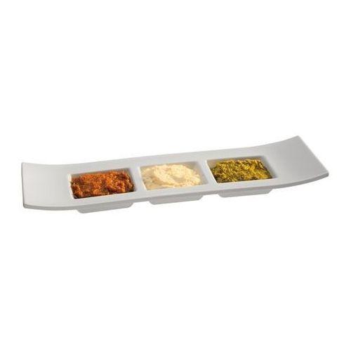 Outlet - półmisek prostokątny z melaminy na przystawki | biały | 290x90mm marki Aps