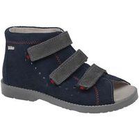 Sandały Profilaktyczne Ortopedyczne Buty DAWID 1043 Granat G - Granatowy ||Szary ||Niebieski ||Multikolor