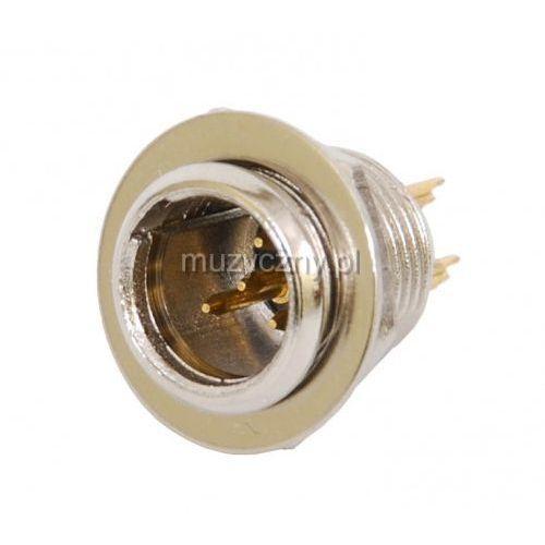 xlr-408/p złącze tablicowe mini xlr 4-pin, męskie marki Monacor