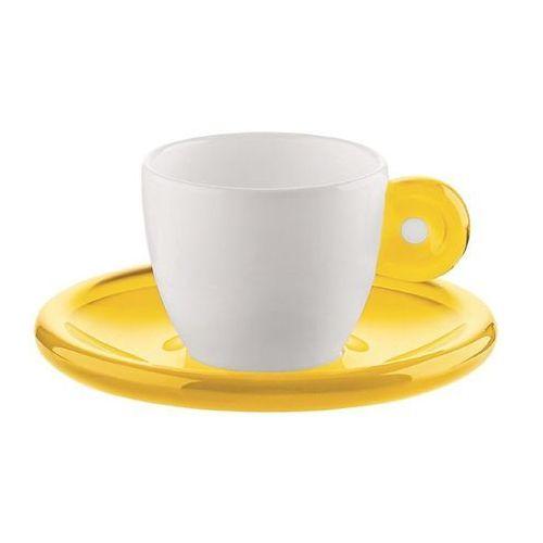 Guzzini zestaw 2 filiżanek do espresso żółty 22320173 darmowa wysyłka - idź do sklepu!