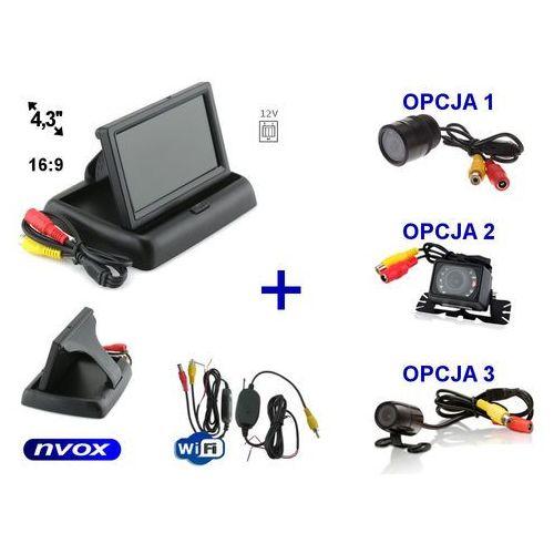 """Nvox Zestaw monitor samochodowy lcd 4,3"""" samochodowa kamera cofania i bezprzewodowy moduł wifi"""