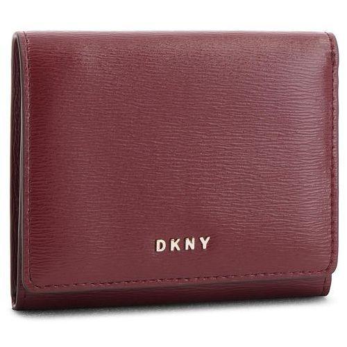 0b6c2feabbc37 Mały Portfel Damski DKNY - Bryant Trifld Wallet R7413100 Blood Red XOD