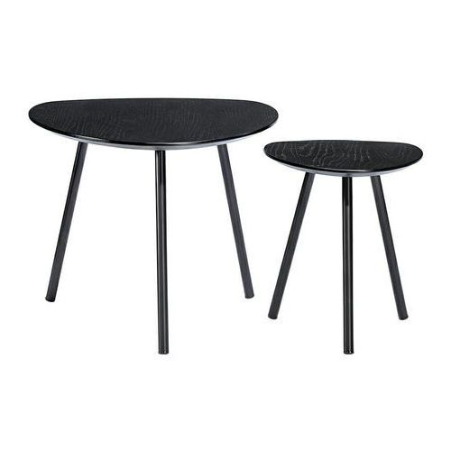 Zestaw stolików kawowych JOY czarny - MDF, nogi metalowe, 1606.BLACK (12212006)