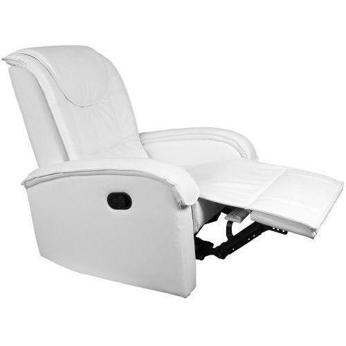 Makstor.pl Biały fotel wypoczynkowy relaksacyjny + podnóżek - biały (40040287)