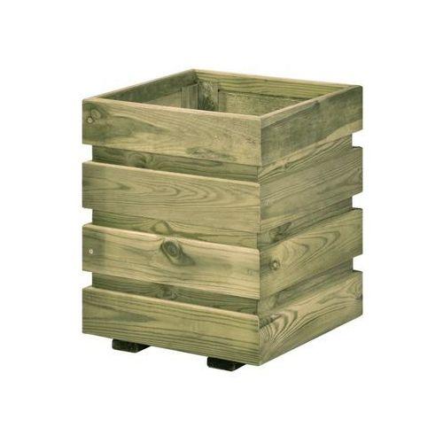Donica ogrodowa FIX 30 x 30 x 37 cm drewniana SOBEX (5908235383392)