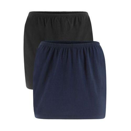 Pas przedłużający do shirtów (2 szt.) bonprix ciemnoniebieski + czarny
