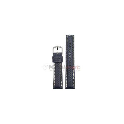 Pasek Hirsch Carbon 18 mm XL - ciemny granat, long, kolor niebieski