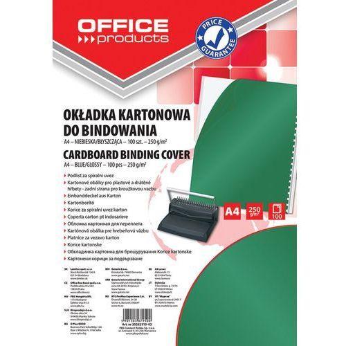 Okładki do bindowania OFFICE PRODUCTS, karton, A4, 250gsm, błyszczące, 100szt., zielone