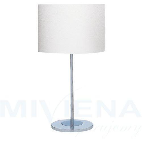 Drum lampa stołowa chrom