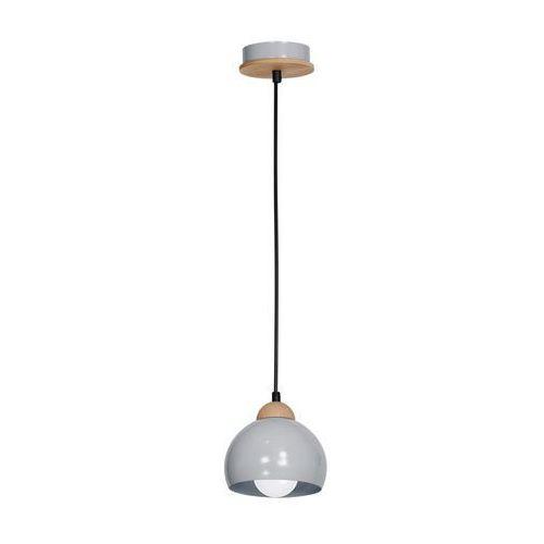 Milagro Lampa oprawa wisząca zwis montana 1x60w e27 szara / drewno 806 (5907812626341)