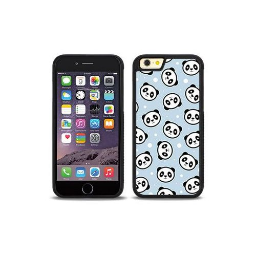 Apple iPhone 6s - etui na telefon Aluminum Fantastic - panda na niebieskim tle, kolor niebieski