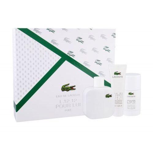 Lacoste Eau De Lacoste L.12.12 Blanc zestaw EDT 100 ml + shower gel 50 ml + deostick 75 ml dla mężczyzn