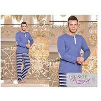 Piżama męska IREK - niebieska, kolor niebieski