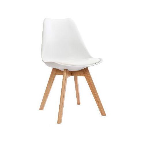 Kh Krzesło nordic białe z poduszką