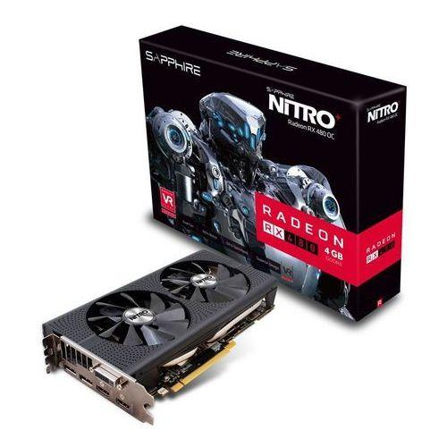 OKAZJA - Karta graficzna Sapphire Radeon RX 480 Nitro+ 4GB GDDR5 (256 Bit) DVI-D, 2xHDMI, 2xDP, BOX (11260-02-20G) Darmowy odbiór w 19 miastach! z kategorii Karty graficzne