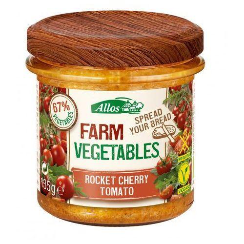 Pasta warzywna z pomidorami cherry i rukolą bezglutenowa bio 135 g - allos marki Allos (musy, miody, musli, batony, syropy z agawy