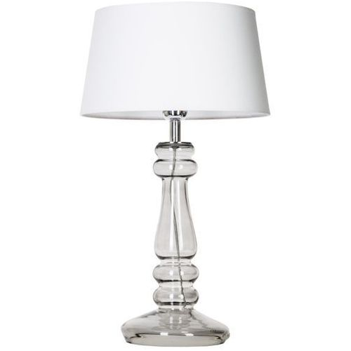 lampa stołowa PETIT TRIANON TRANSPARENT BLACK z białym kloszem, 4 CONCEPTS L051361501