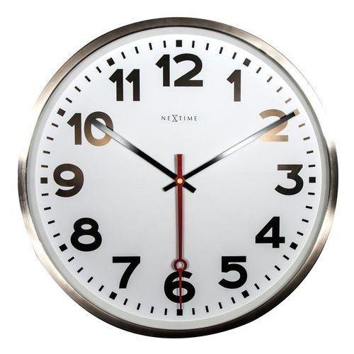 Zegar ścienny super station cyfry arabskie marki Nextime