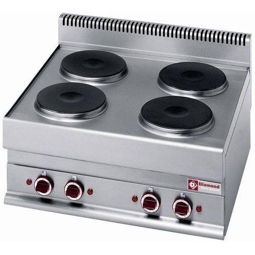 Kuchnia elektryczna nastolna | 4 okrągłe palniki | 10400W | 700x650x(H)280/380mm